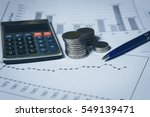 financial graphs whit rows of... | Shutterstock . vector #549139471