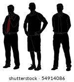 series of men standing in... | Shutterstock . vector #54914086