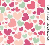 seamless hearts pattern | Shutterstock .eps vector #549142051