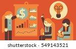businesswoman teaching economic ... | Shutterstock .eps vector #549143521