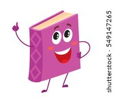 funny book character pointing... | Shutterstock .eps vector #549147265
