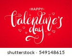 happy valentines day... | Shutterstock .eps vector #549148615