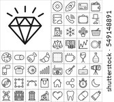 set of universal icons.... | Shutterstock .eps vector #549148891