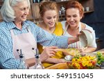 happy three generation family... | Shutterstock . vector #549151045