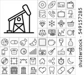 set of universal icons.... | Shutterstock .eps vector #549157285