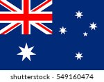 australia flag vector icon. | Shutterstock .eps vector #549160474