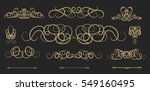vintage decor elements and... | Shutterstock . vector #549160495
