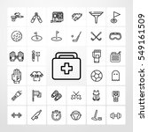 first aid kit icon. sport set...