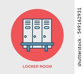 school locker room vector icon. ... | Shutterstock .eps vector #549162931