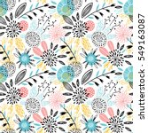 seamless floral pattern | Shutterstock .eps vector #549163087