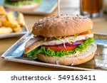 cheese burger   american cheese ... | Shutterstock . vector #549163411