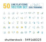 vector graphic set. icons in... | Shutterstock .eps vector #549168325