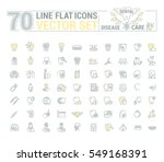 vector set of flat graphic icon ... | Shutterstock .eps vector #549168391