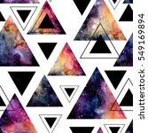 seamless pattern of watercolor... | Shutterstock . vector #549169894