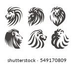 Lion Head Logo Set   Vector...
