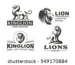 Stock vector lion logo set vector illustration emblem design on white background 549170884