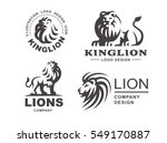 lion logo set   vector... | Shutterstock .eps vector #549170887