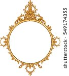 round photo frame  metal gold ... | Shutterstock .eps vector #549174355