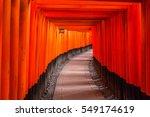 thousands of torii gates at...   Shutterstock . vector #549174619