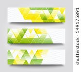 set of banner templates with... | Shutterstock . vector #549175891