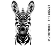 good zebra smiling black and... | Shutterstock .eps vector #549180295