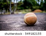 Old Basketball On The Ground...