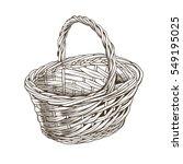 vintage basket in woodcut style | Shutterstock . vector #549195025