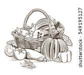 basket of vegetables | Shutterstock . vector #549195127