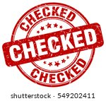 checked. stamp. red round... | Shutterstock .eps vector #549202411