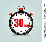 illustration of thirty minutes... | Shutterstock .eps vector #549205279