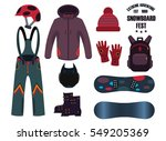 snowboard with strap in... | Shutterstock .eps vector #549205369