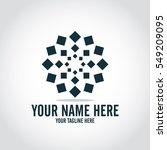 social relationship logo and... | Shutterstock .eps vector #549209095