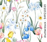 Watercolor Floral Spring...
