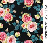 seamless pattern with rose.... | Shutterstock .eps vector #549211765