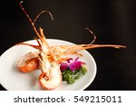 Grilled Lobster Tails On White...