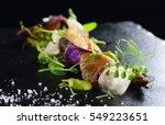 haute cuisine  gourmet food... | Shutterstock . vector #549223651