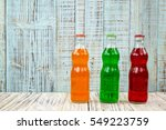 an assortment of colorful soda... | Shutterstock . vector #549223759