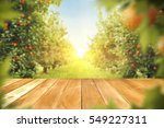wooden table place of free... | Shutterstock . vector #549227311