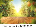 wooden table place of free... | Shutterstock . vector #549227329