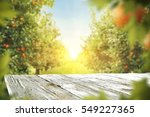 wooden table place of free... | Shutterstock . vector #549227365