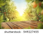 wooden table place of free... | Shutterstock . vector #549227455