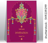 indian invitation card... | Shutterstock .eps vector #549239299