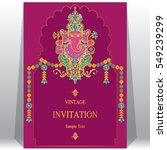 indian invitation card... | Shutterstock .eps vector #549239299