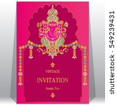 indian invitation card... | Shutterstock .eps vector #549239431