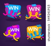 you win   vector congratulation ... | Shutterstock .eps vector #549241915