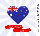 australia day background. heart ... | Shutterstock .eps vector #549251584