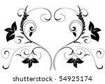 heart pattern   Shutterstock .eps vector #54925174