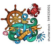 the ship's anchor  steering... | Shutterstock .eps vector #549253501