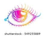 meditation  vector image ... | Shutterstock .eps vector #549255889