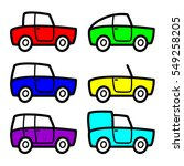 vector fun car body icon set | Shutterstock .eps vector #549258205